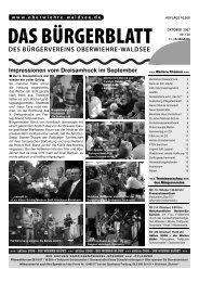 DAS BÜRGERBLATT - oberwiehre-waldsee.de