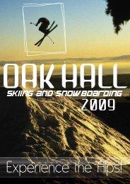 2009 Reservation Form Oak Hall Skiing & Snowboarding