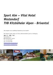 Sport Alm — Vital Hotel - Tirol