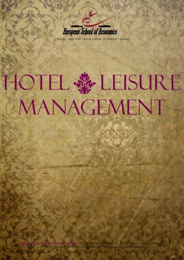 HOTEL LEISURE MANAGEMENT