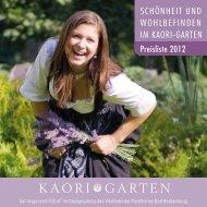 Der KAORI-Garten. Die Kosmetik - Vitalhotel Bad Radkersburg