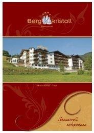 Prospekt Hotel Bergkristall Wildschönau