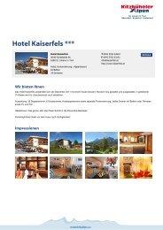 Hotel Kaiserfels *** - Kitzbüheler Alpen St. Johann in Tirol