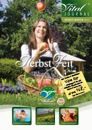 Vital Journal Herbst Winter 2012 - Vitalhotel Bad Radkersburg
