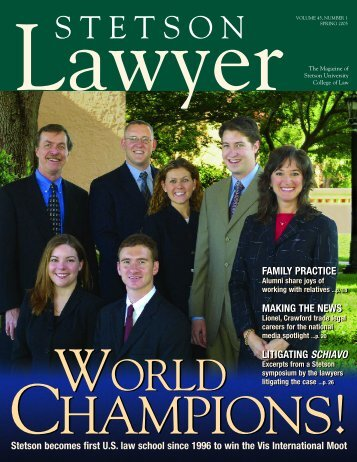 Volume 45, Number 1 - Stetson University College of Law