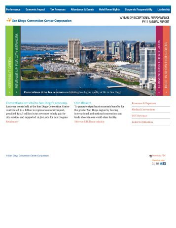 Conventions are vital to San Diego's economy. Our Mission