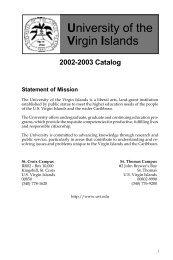 Associate - University of the Virgin Islands