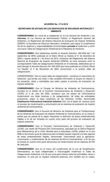 Categorización Ambiental CIIU, clic aquí - PROMECOM