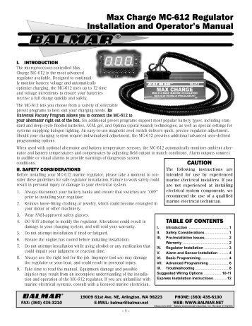 max charge mc 612 regulator installation and operators balmar?quality\=80 balmar regulator wiring diagram blue case,regulator \u2022 edmiracle co  at eliteediting.co