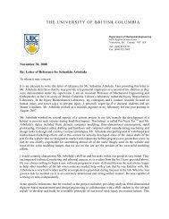 UBC Injury Biomechanics Lab Letter of Recommendation