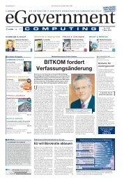 BITKOM fordert Verfassungsänderung - eGovernment Computing