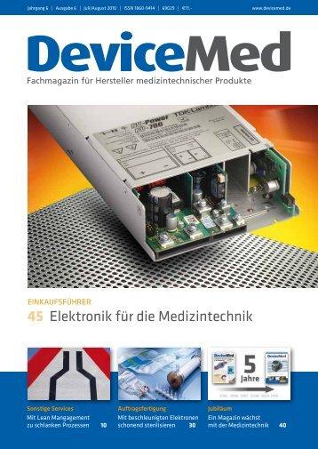 LEITMESSE Medizintechnik - DeviceMed.de