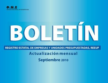 Actualización mensual Septiembre 2010 - Oficina Nacional de ...