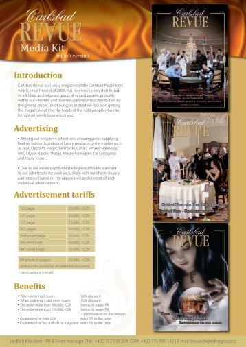 Carlsbad Revue media kit - ENG - Eden Group as