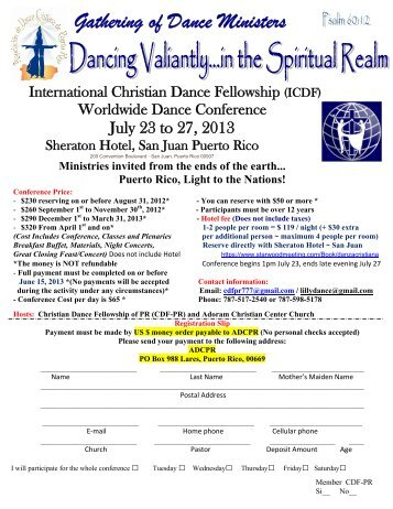 Gathering of Dance Ministers - International Christian Dance ...