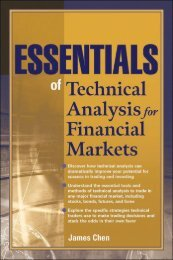 Essentials of Technical Analysis for Financial Markets.