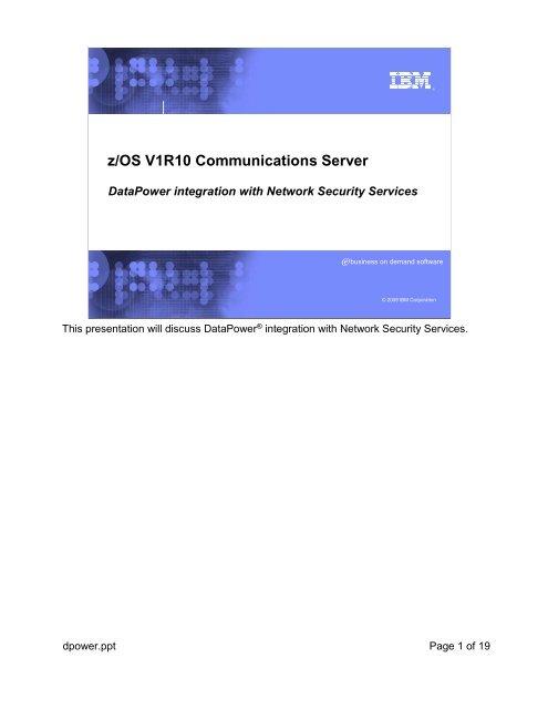 z/OS V1R10 Communications Server - IBM