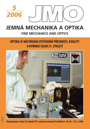 5 2006 jemn mechanika a optika fine mechanics and optics - Jemná ...