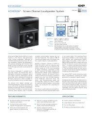 Acheron Datasheet - Meyer Sound Laboratories Inc.