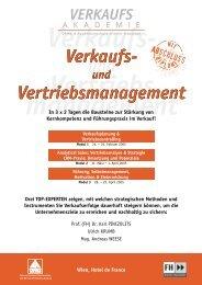 Verkaufs- Vertriebsmanagement Verkaufs ... - VMS GmbH