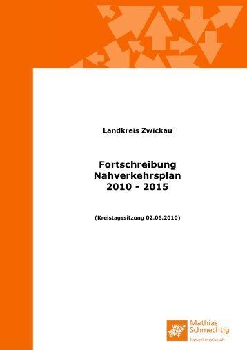 Landkreis Zwickau Fortschreibung Nahverkehrsplan 2010