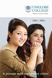 course structure mba (finance) - Uniglobe College