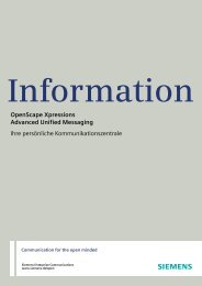 OpenScape Xpressions V6, Advanced Unified ... - meinhart.CC