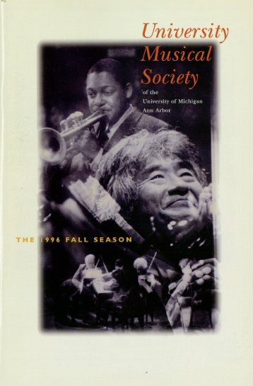 University Musical Society - Ann Arbor District Library