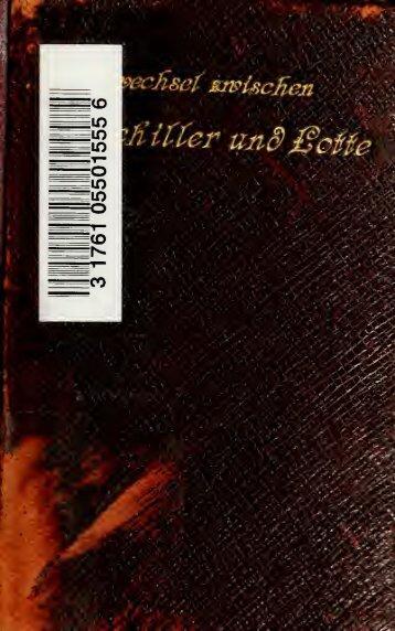 Schiller und Lotte : ein Leben in Briefen