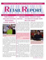 Newsletter of the David F. Miller Center for Retailing Education and ...