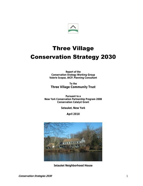 Three Village Conservation Strategy 2030 - Town of Brookhaven