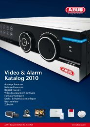 Video & Alarm Katalog 2010 - ABUS Security-Center