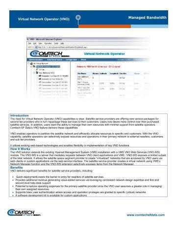 Managed Bandwidth Virtual Network Operator ... - Comtech EF Data