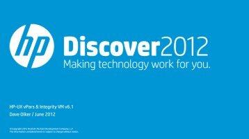 vPars & Integrity VM v6.1 comparison - HP Discover Online 2012 ...