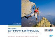 SAP-Partner Konferenz 2012 - IA4SP & RAAD: SAP-Partner ...