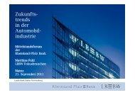 Zukunfts- trends in der Automobil- industrie - Rheinland Pfalz Bank