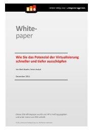 Wie Sie das Potenzial der Virtualisierung schneller und - Hewlett ...