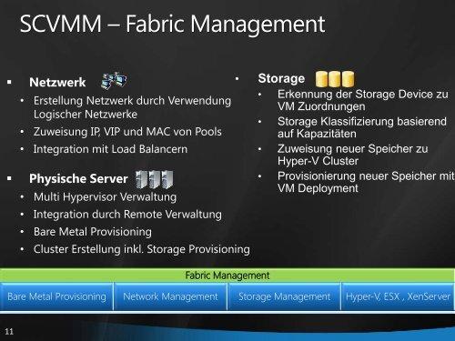 VMM – IaaS Private Clouds Azure – PaaS Public Cloud