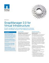 SnapManager 2.0 for Virtual Infrastructure - Inneo