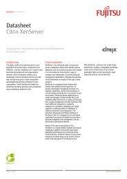 Datasheet Citrix XenServer - Fujitsu