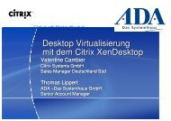 Desktop Virtualisierung mit dem Citrix XenDesktop ... - IT-Brunch
