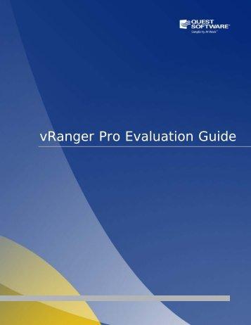vRanger Pro Evaluation Guide - Quest Software