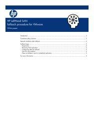HP LeftHand SAN failback procedure for Vmware ... - Hewlett Packard
