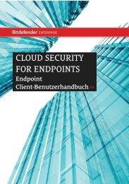 Bitdefender Cloud Security Endpoints User Guide