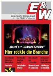 Österreichs Insiderblatt für die Elektrobranche 1-2/Jänner ... - E&W