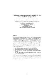 Virtualisierungsarchitekturen für den Betrieb von Very Large ... - TUM