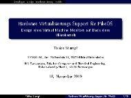 Hardware Virtualisierungs Support für PikeOS