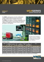 VMS MS4 data sheet - Variable Message Signs Limited