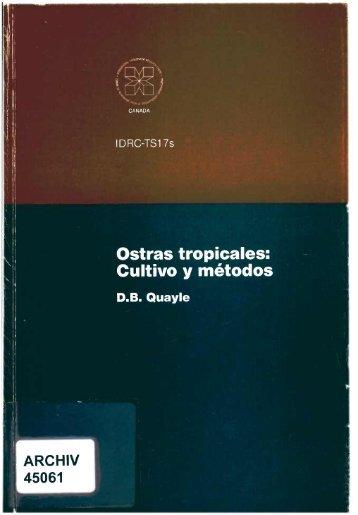 ARCHIV Cultivo y métodos - IDL-BNC @ IDRC - International ...