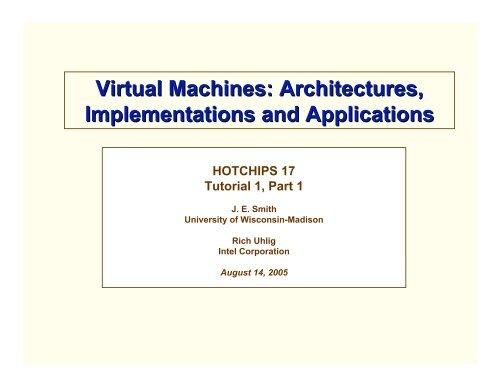 Virtual Machines Architectures